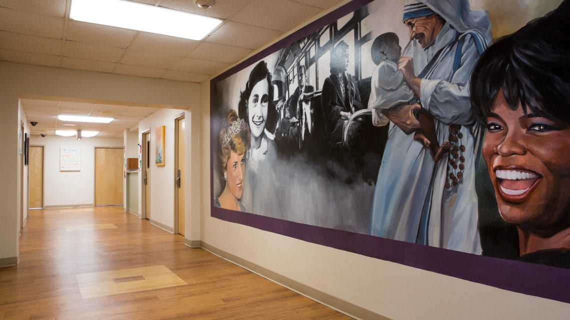River Edge Hospital Mural painted on wall of Inspirational Women